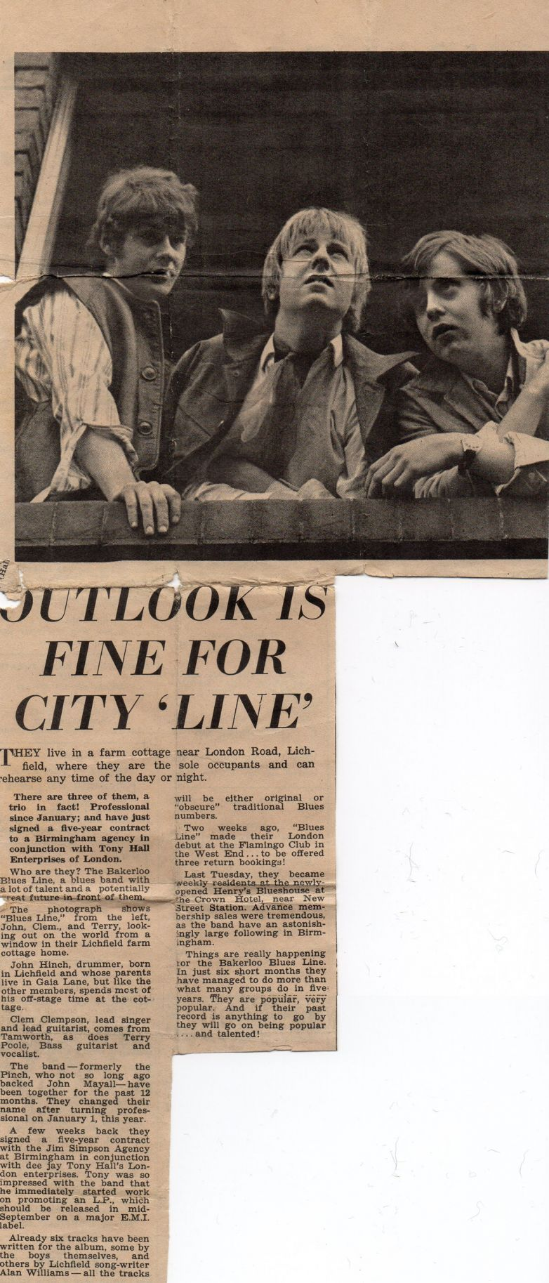 Outlook is Fine for City 'Line""
